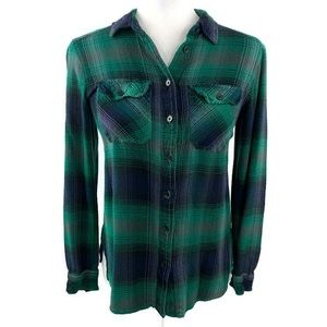 BDG Flannel Button Down Long Sleeve Shirt X-Small
